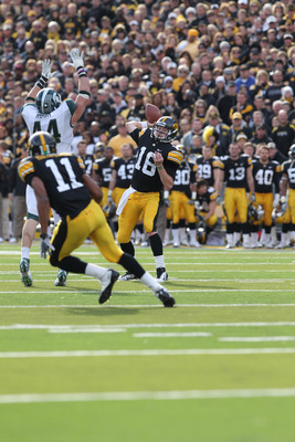 James Vandenberg put up better numbers than he did last week, but Iowa could not top in-state rival Iowa State.
