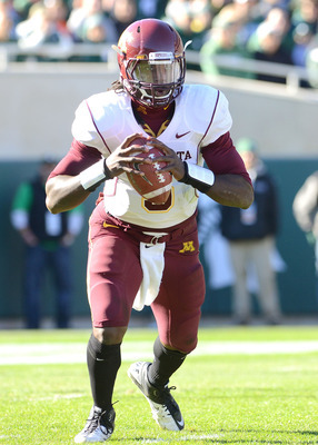 MarQueis Gray racked up four touchdowns in the first half as Minnesota routed New Hampshire.