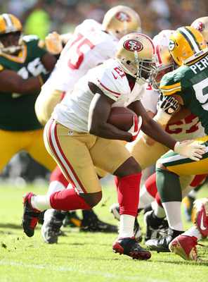 Frank Gore rushed for 112 yards against the Packers