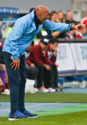 Spaletti on the Zenit sidelines