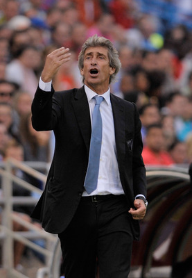 Chilean Manuel Pellegrini is in charge at Malaga