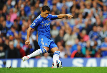 Eden Hazard preparing a strike