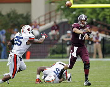 Tyler Russell was sharp verses the Auburn Defense - (AP Photo/Rogelio V. Solis)