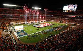 Sun Life Stadium has hosted several marquee college and professional football events.
