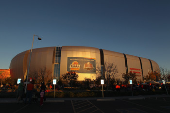 University of Phoenix Stadium has hosted the Fiesta Bowl since 2007.