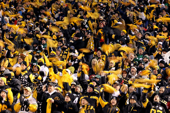Pittsburgh Steeler fans pack Heinz Field on football Sundays in the National Football League.