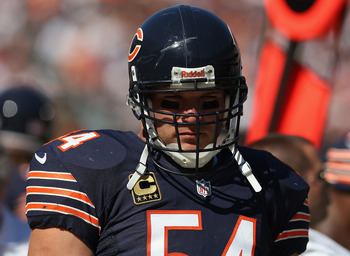 Brian Urlacher of the Chicago Bears