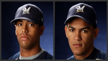 Left: Khris Davis // Courtesy of MiLB.com