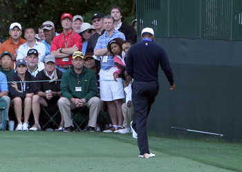 The odds against seeing Rory McIlroy drop-kick a club like Tiger Woods did at the Masters are not good.