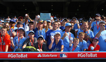 Fans in Kauffman Stadium prior to the 2012 All-Star Game.