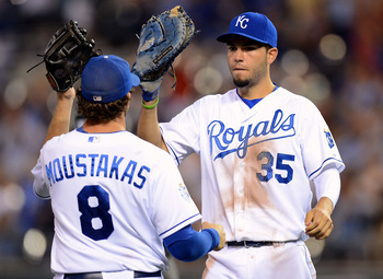 Royals infielders Mike Moustakas and Eric Hosmer.