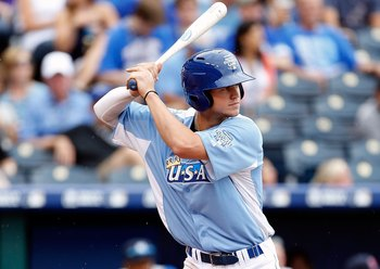 Kansa City Royals prospect Wil Myers at the plate.
