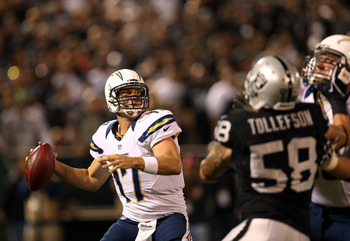 Philip Rivers threw for 231 yards and a score in the win over the Raiders