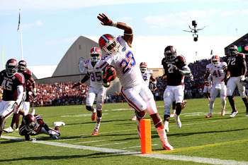Florida's road victory against Texas A&M earned them a jump in the AP poll.