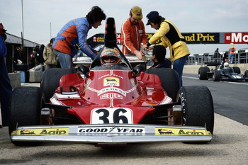 The Ferrari 312T at the Graham Hill International Trophy in '76