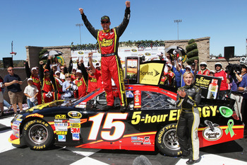 Clint Bowyer twisted and turned his way into Sonoma's victory lane