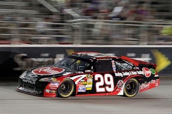 Kevin Harvick showed some muscle in the regular season's penultimate race at Atlanta