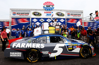 Kasey Kahne essentially locked up his spot in the Chase with his New Hampshire victory