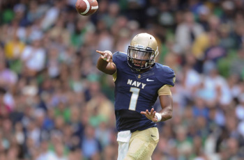 Navy's Trey Miller was accurate when asked to pass against Notre Dame in week one.