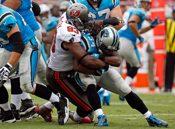 The Bucs defense was swarming on Sunday, holding DeAngelo Williams to negative yards rushing.