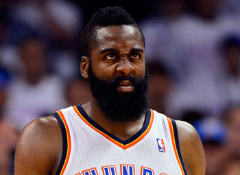 James Harden of the Oklahoma City Thunder