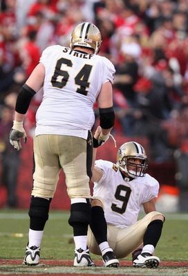 Zach Strief was one of the many Saints to be flagged.