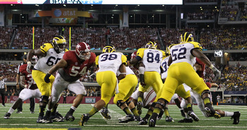 Jesse Williams and the Tide defensive line will try to make the Hogs one-dimensional on offense.