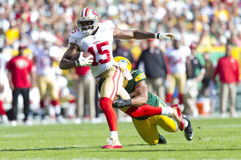 Michael Crabtree had seven receptions against the Packers