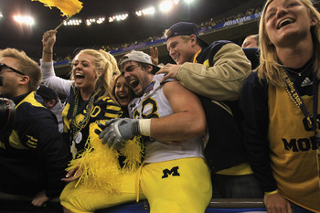 Michigan fans will be happy Saturday after the Wolverines dispose of the UMass Minutemen