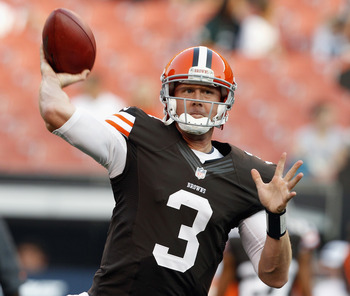 Can Weeden remember who is on his team this week?