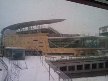 Snowy baseball could return to the Twin Cities when the Twins host the Detroit Tigers on April 1.