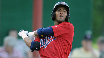 2B Eddie Rosario // Courtesy of MiLB.com