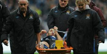 HBA stretchered off at the Etihad after De Jong Lunge.