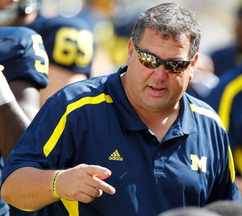Brady Hoke is not all that worried about his offensive line yet, but it is obvious the group must improve.