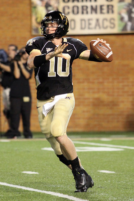 Wake Forest QB Tanner Price has to throw more TDs.