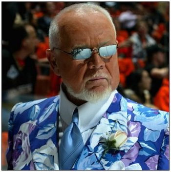 Don Cherry Dressing Down for Once