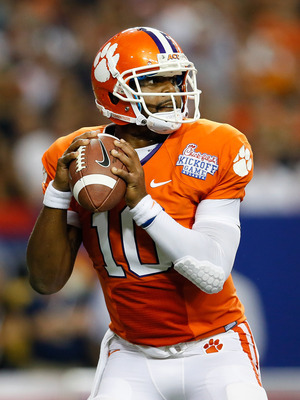 Tajh Boyd had at least six completions to three different receivers last week against Ball State.