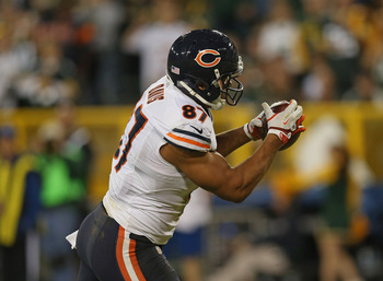Davis caught the only touchdown of the game for the Bears last night.
