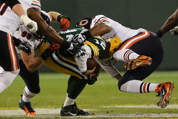 McClellin (99) sacked Aaron Rodgers twice last night.