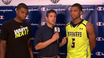 Andy Katz with the Harrison twins. Image via ESPN.com