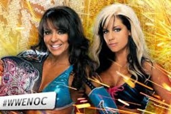 This is it folks...Divas title match time! Image by WWE