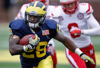 Michigan running back Fitzgerald Toussaint.