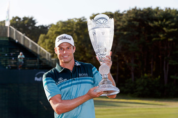 Nick Watney won the Barclays at Bethpage.
