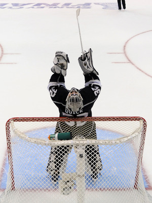 Jonathan Quick of the Stanley Cup-winning Los Angeles Kings.