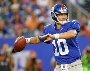 Eli Manning has two Super Bowl rings. It's safe to say think he's the Giants' centerpiece.