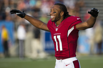 Despite not having a good quarterback, Larry Fitzgerald is a stud.