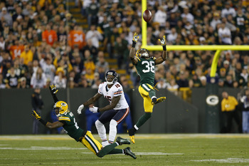 The Green Bay secondary had Brandon Marshall under wraps all evening