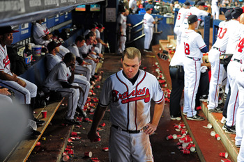 Atlanta Braves third baseman Chipper Jones will see action in the playoffs one more time before retirement.