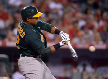 Cuban outfielder Yoenis Cespedes is one of the rising stars that dots a surprising A's lineup.