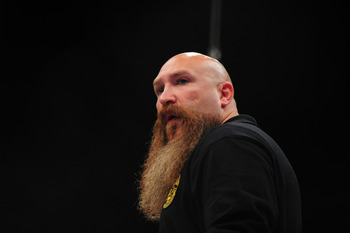 Mike Beltran's ridiculous beardstache was one of the things that had eyes rolling at the most recent Strikeforce event.